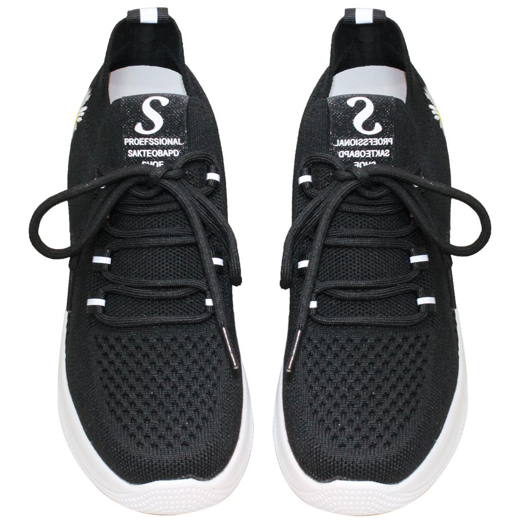 休閒風飛織輕量增高鞋