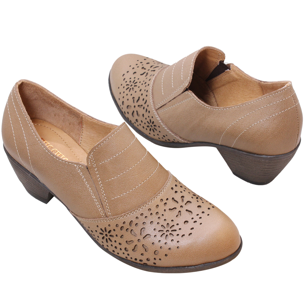 頂級雕花小牛皮顯瘦氣墊踝靴