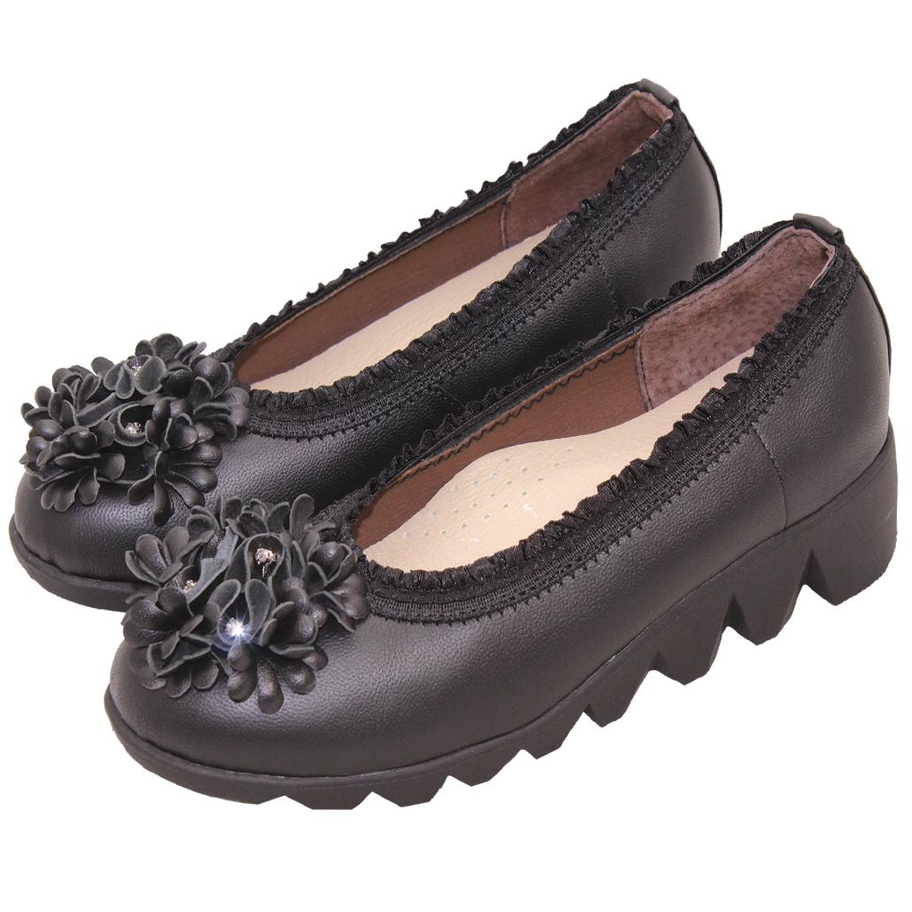 百花小羊皮輕量化厚底氣墊鞋