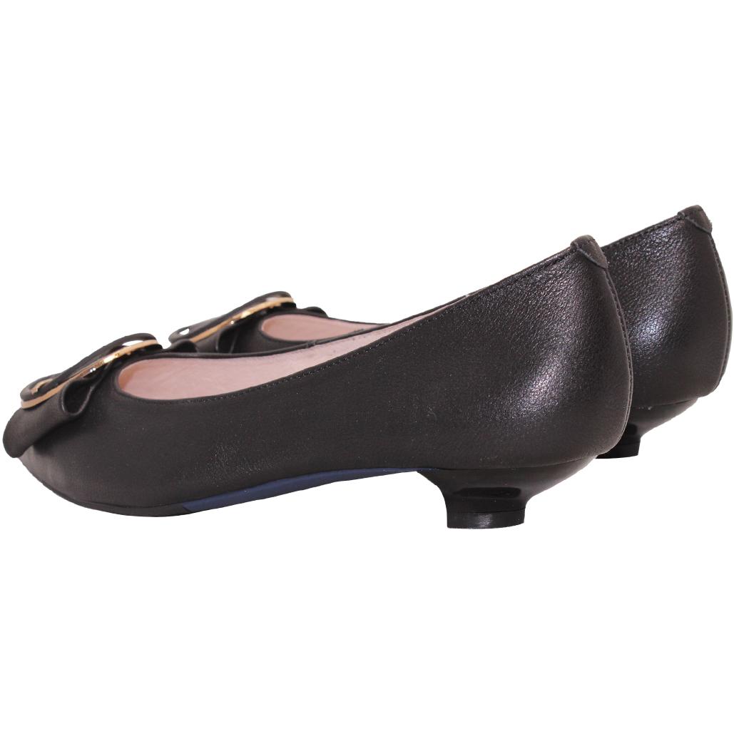 優雅OL小羊皮貓跟鞋