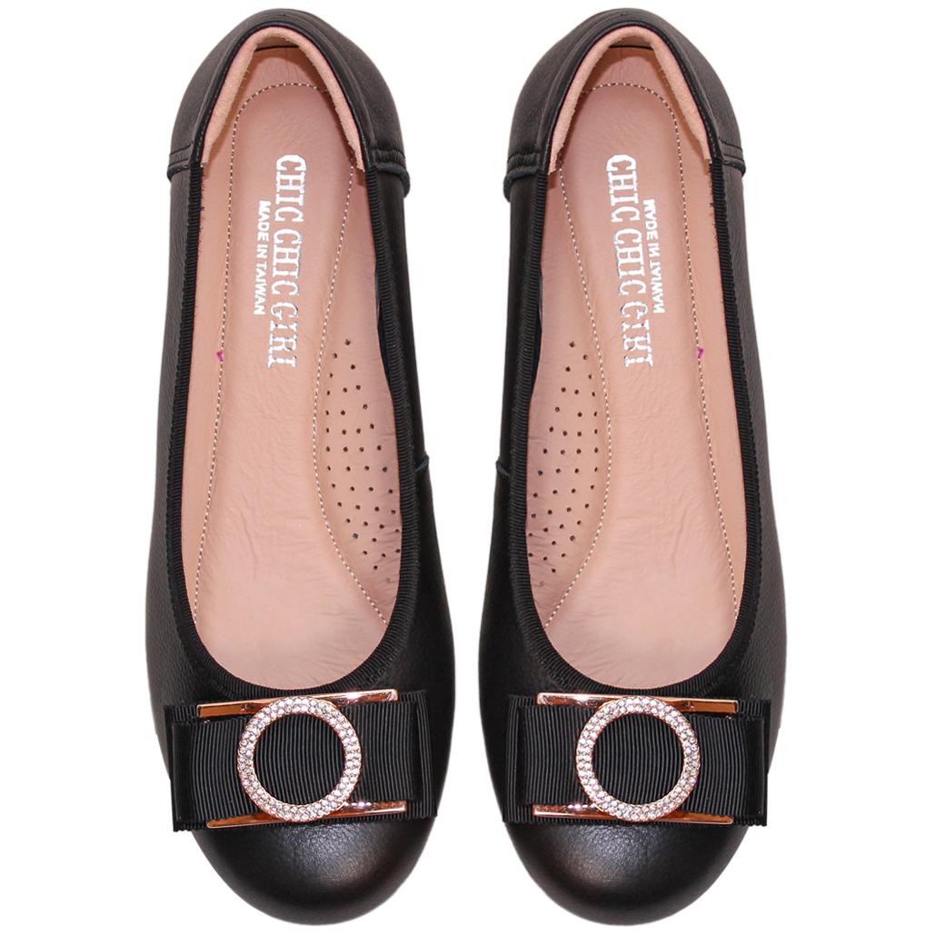 秀氣寬楦小羊皮楔型娃娃鞋