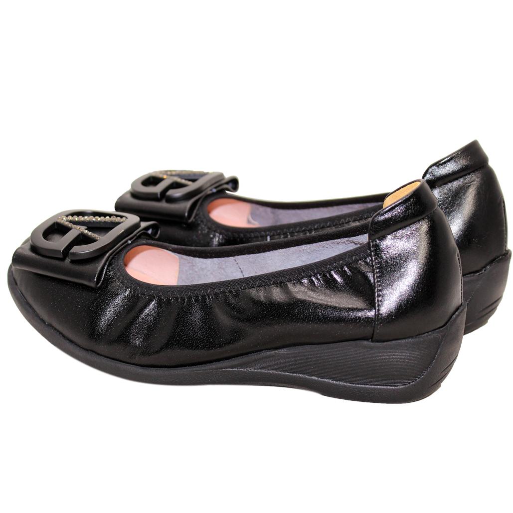 OL通勤款小羊皮楔型娃娃鞋