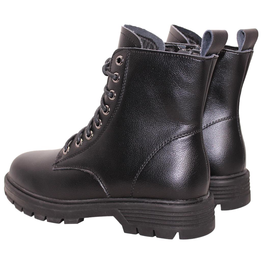 率性風小牛皮厚底綁帶短靴