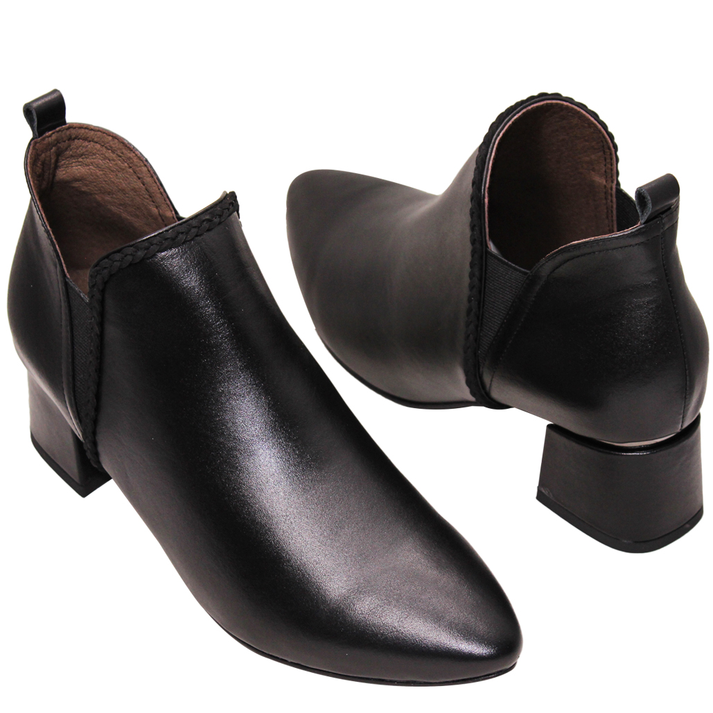 英倫風小羊皮雀爾希短靴
