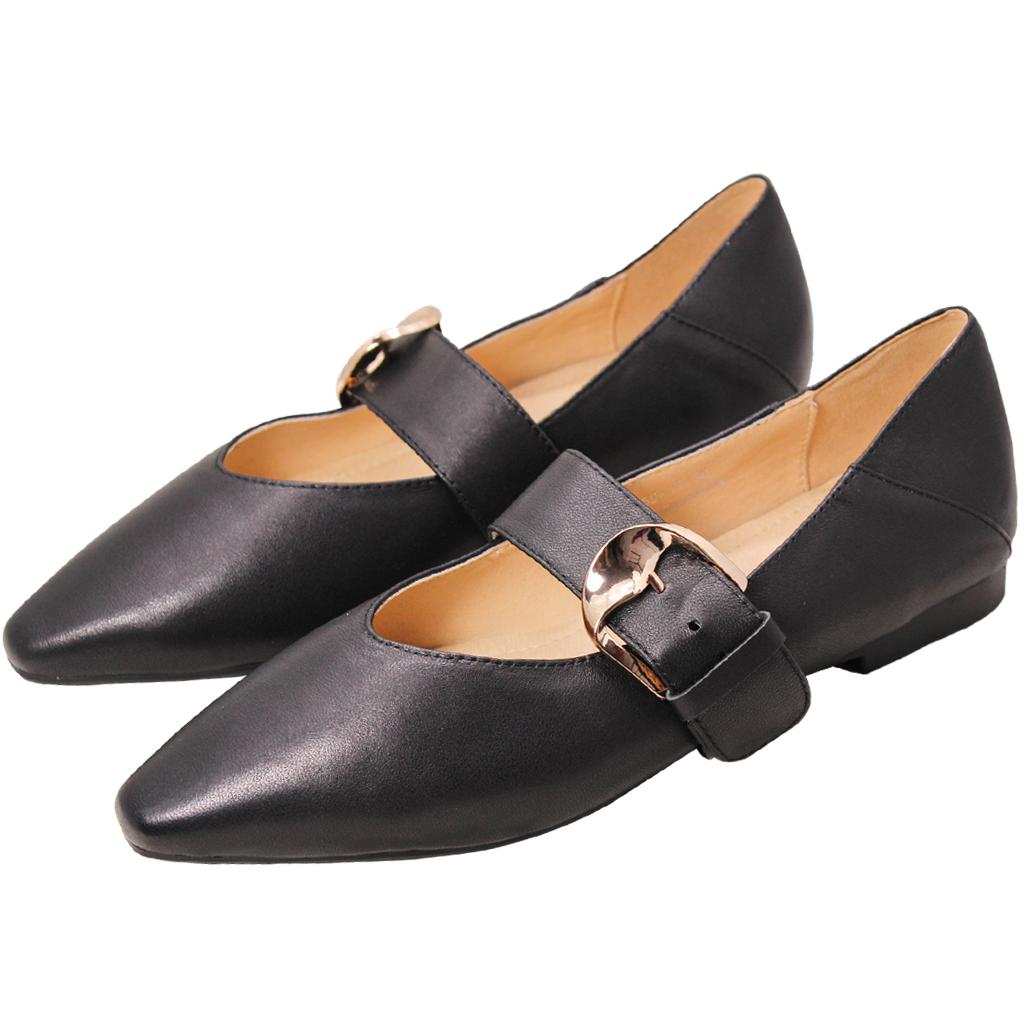 優雅顯瘦小羊皮瑪麗珍鞋