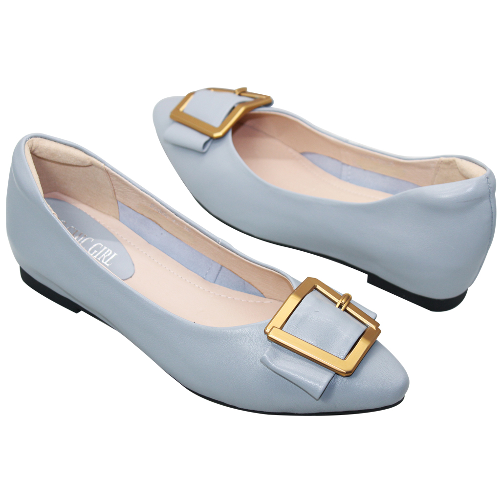 OL時尚款小羊皮增高娃娃鞋