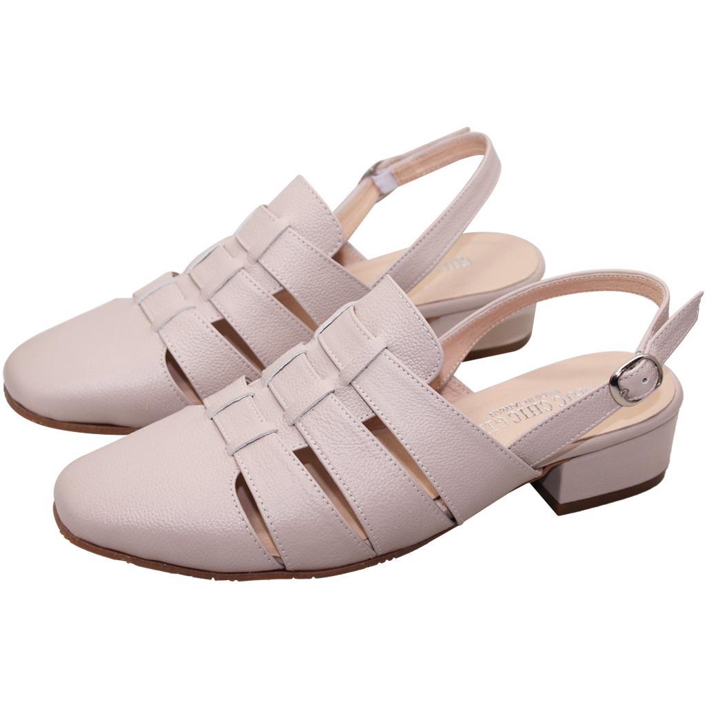 氣質編織小牛皮涼鞋
