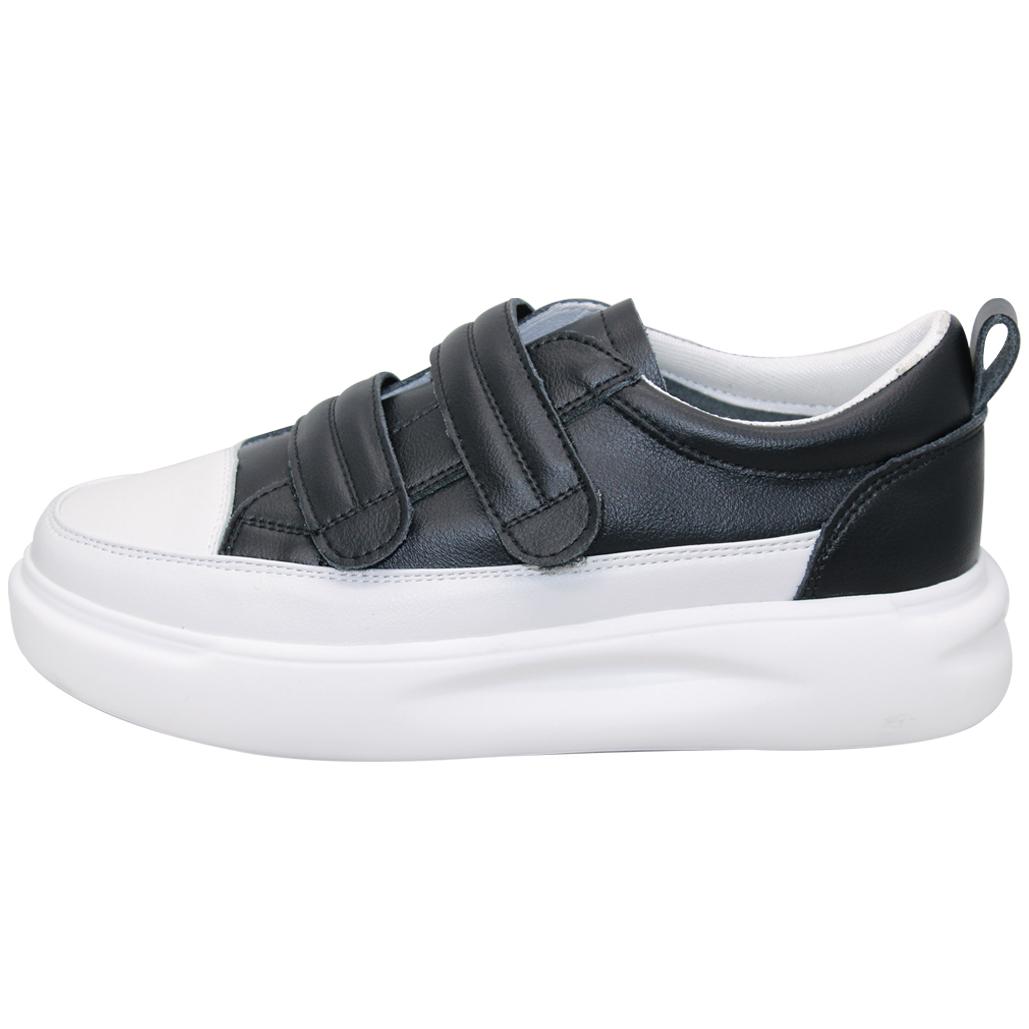 時尚小牛皮輕量厚底休閒鞋
