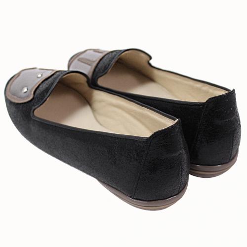 可愛貓貓不對稱氣墊平底鞋