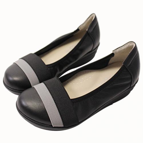 小羊皮厚底氣墊平底鞋