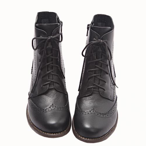 牛津風小荔枝紋氣墊短靴