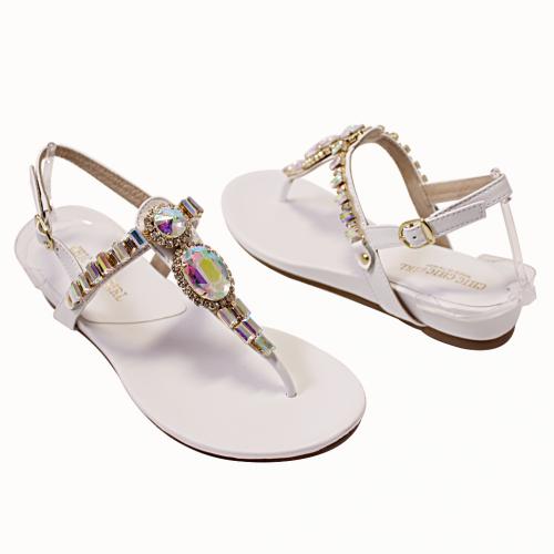 Bling寶石風氣墊涼鞋