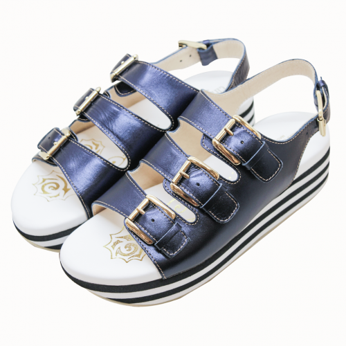 小羊皮特殊底台輕量化運動涼鞋