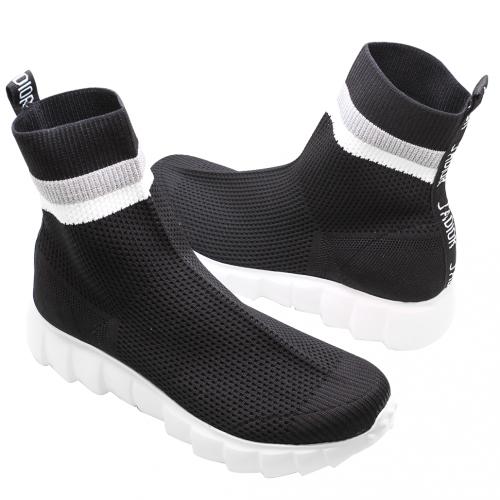 個性風彈性萊卡針織平底襪靴