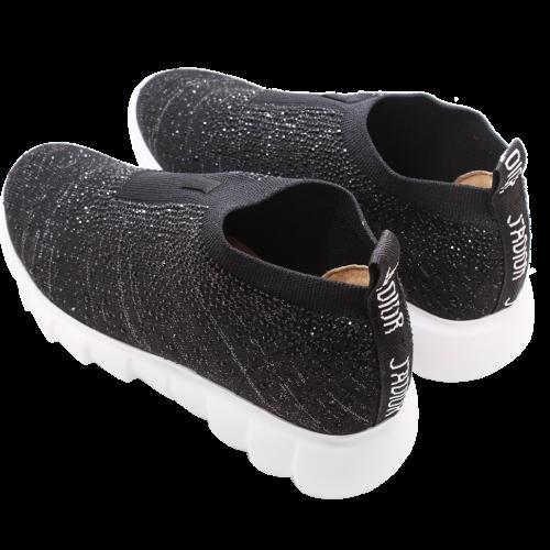 水鑽彈性萊卡氣墊厚底短襪靴