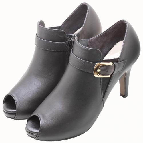 義大利頂級小牛皮魚口三吋踝靴