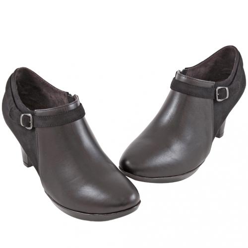 義大利頂級小牛皮拼接三吋踝靴