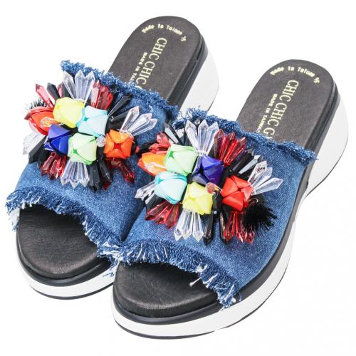 盛夏果實單寧輕量化氣墊拖鞋