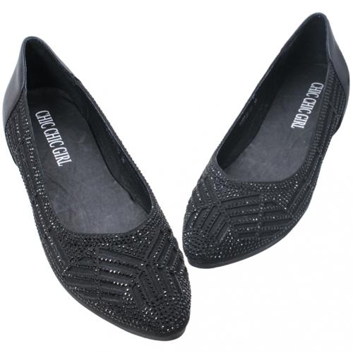 雷雕水鑽尖頭羊麂皮後增高鞋