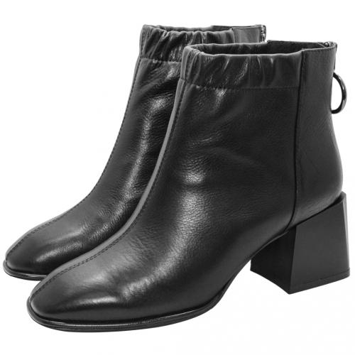 Dior風復古方頭縮口短靴