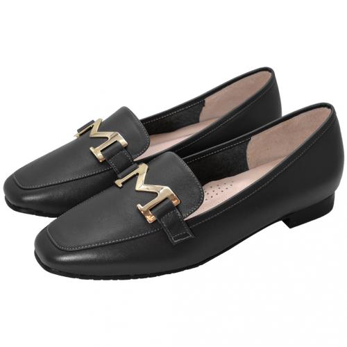 個性風小羊皮M字樂福鞋