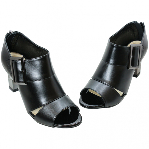 歐美風小羊皮露指三吋踝靴