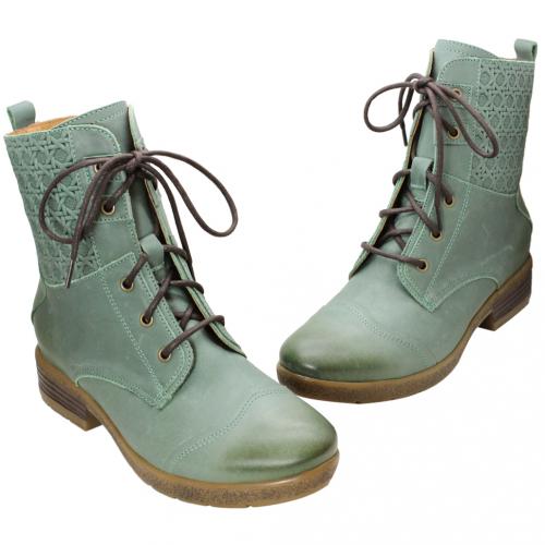 中性風小牛皮特殊壓紋中靴