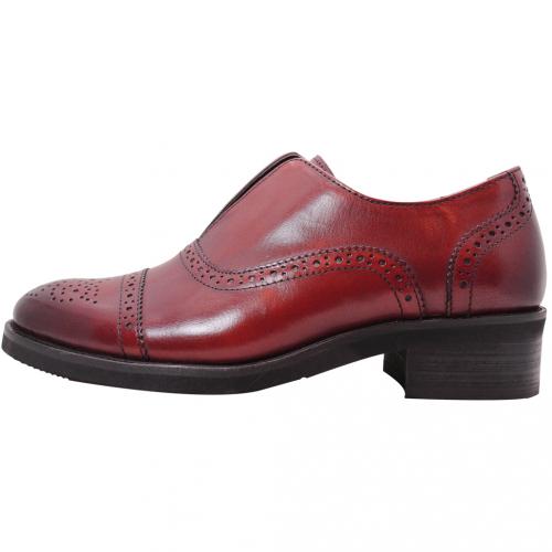 學院風復古小牛皮苯染牛津鞋