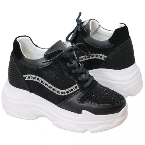 運動風水鑽小牛皮內增高輕量化老爺鞋