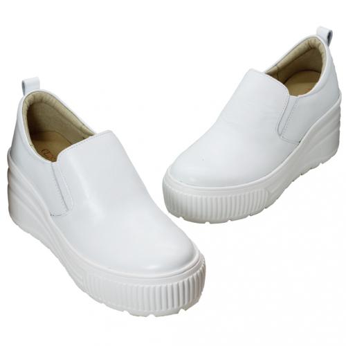 休閒風小羊皮內增高輕量化休閒鞋