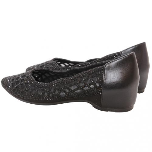 優雅雷雕水鑽尖頭羊麂皮後增高鞋