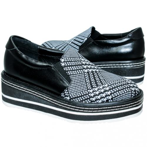 星星小牛皮輕量內增高休閒鞋