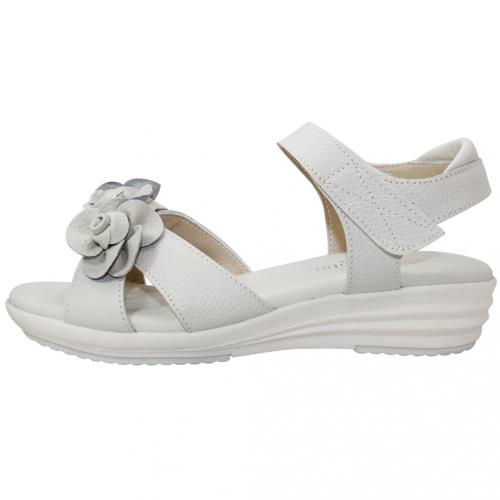 玫瑰小牛皮休閒氣墊涼鞋