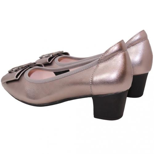時尚精品風小羊皮OL中跟鞋