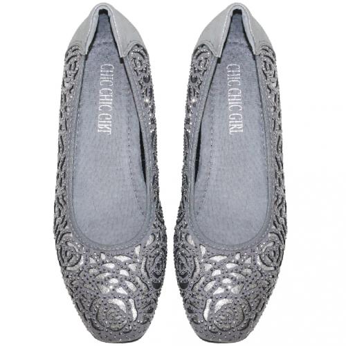 玫瑰雷雕小羊皮輕量增高鞋