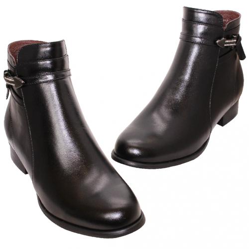 個性風小羊皮低跟短靴