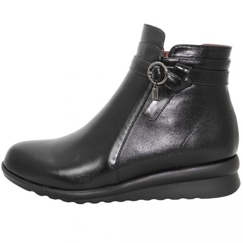 頂級小羊皮楔型氣墊短靴