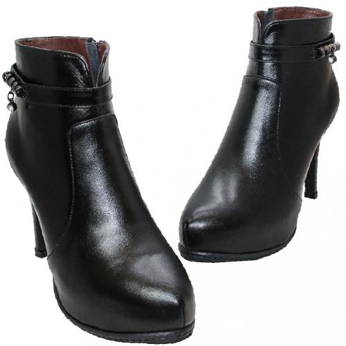 義大利頂級小羊皮四吋細跟短靴