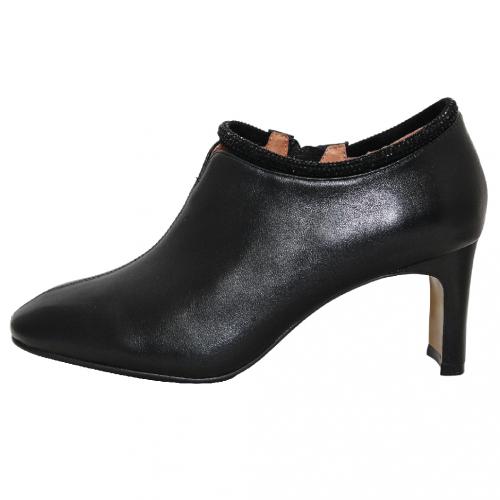 歐美風時髦亮鑽小羊皮踝靴