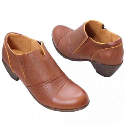 頂級小牛皮顯瘦氣墊踝靴