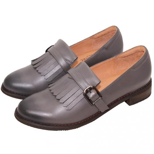 英倫學院風軟牛皮氣墊牛津鞋