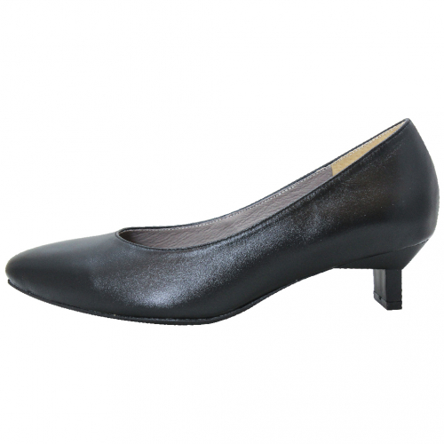 簡約素面小羊皮方頭特殊跟鞋