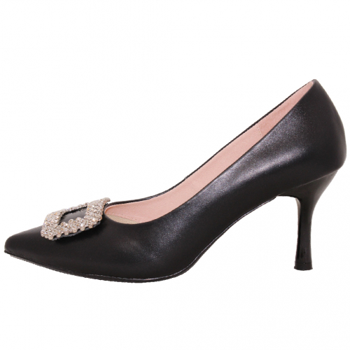 RV風方釦金蔥晚宴跟鞋