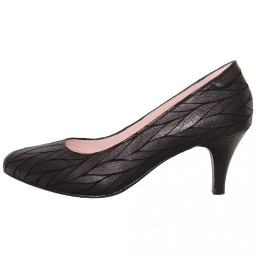 優雅特殊小羊皮三吋跟鞋
