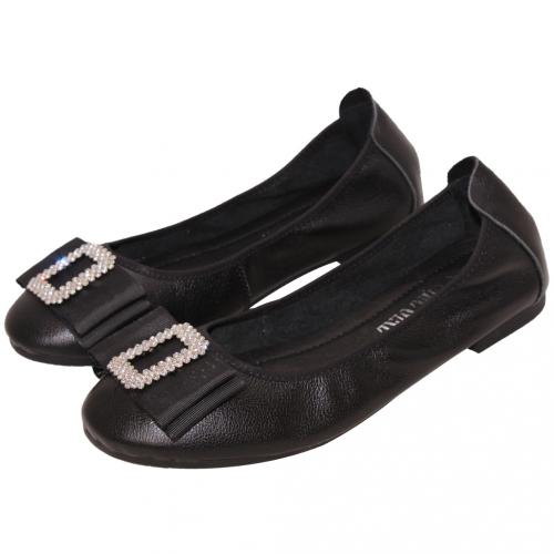超軟Q蝴蝶結小羊皮娃娃鞋