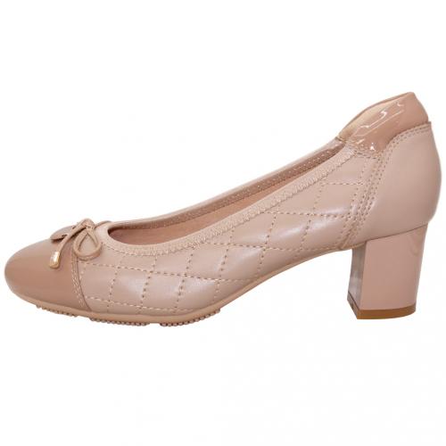 經典小香風格紋小羊皮跟鞋