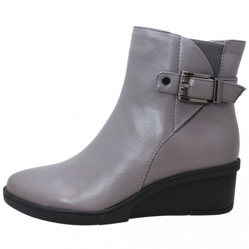 經典頂級小牛皮楔型短靴