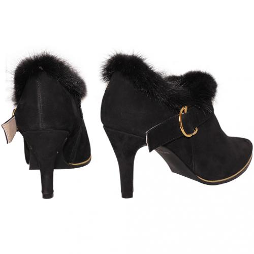 歐美風小羊皮貂毛三吋踝靴