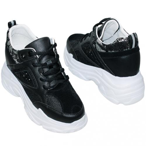 歐美風異材質小羊皮增高老爹鞋