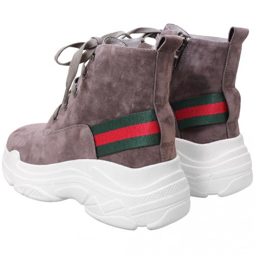 古馳風羊麂皮輕量老爹短靴